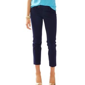 Lilly Pulitzer navy Palm Beach fit crop pants